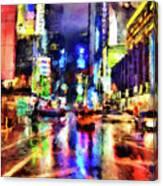 New York At Night - 14 Canvas Print