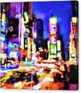New York At Night - 15 Canvas Print