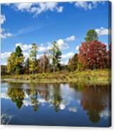 New York Autumn Landscape Canvas Print