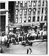 New York: Bank Run, 1930 Canvas Print