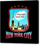 New York Big Apple Design Canvas Print