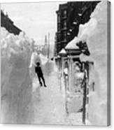 New York: Blizzard Of 1888 Canvas Print