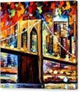 New York Brookyln Bridge Canvas Print