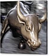 New York Bull Of Wall Street Canvas Print