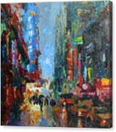 New York City 42nd Street Painting Canvas Print