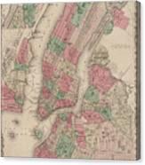 New York City, Brooklyn, Jersey City, Hoboken Canvas Print