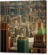 New York City Buildings And Skyline Canvas Print