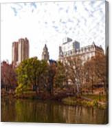 New York City Central Park Living - Impressions Of Manhattan Canvas Print