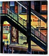 New York City Elevated Subway Stairs Canvas Print