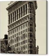 New York City - Flatiron In Sepia Canvas Print
