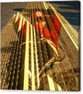 New York City Jogger - Collage Canvas Print