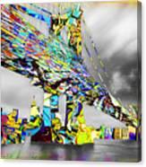 New York City Manhattan Bridge Pure Pop Gold Canvas Print