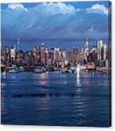New York City Nyc At Dusk Canvas Print