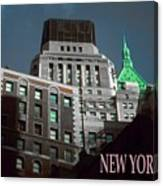 New York City Poster - Wall Street Canvas Print