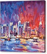 New York City Skyline 02 Canvas Print