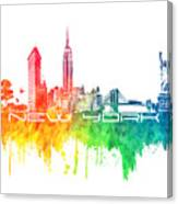 New York City Skyline Color Canvas Print