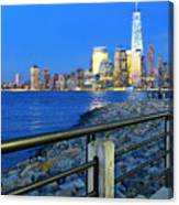 New York City Skyline From Liberty State Park In Jersey City New Jersey #3 Canvas Print