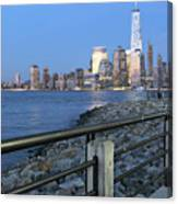 New York City Skyline From Liberty State Park In Jersey City New Jersey #4 Canvas Print