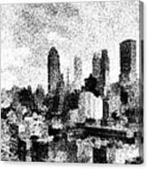 New York City Skyline Sketch Canvas Print