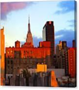New York City Skyline Sunset Canvas Print
