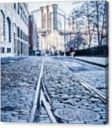 New York City Skyline With Brooklyn Bridge Canvas Print