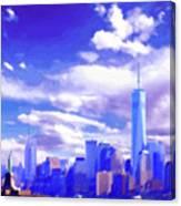 New York City Skyline With Freedom Tower Canvas Print
