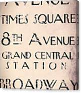 New York City Street Sign Canvas Print