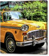 New York City Yellow Checker Taxicab Canvas Print