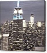 New York Empire State Building Blurred  Canvas Print