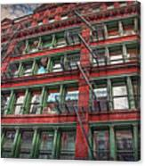 New York Fire Escapes Canvas Print