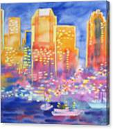 New York Great City Silhouettes.2007 Canvas Print