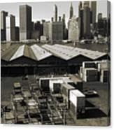 Old New York Harbor Skyline Canvas Print