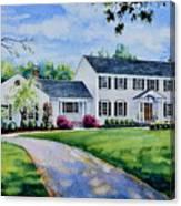 New York Home Portrait Canvas Print
