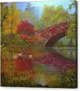New York In Fall Canvas Print