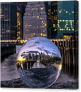 New York In Glass Ball Canvas Print
