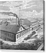 New York: Iron Works, 1876 Canvas Print