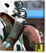 New York Jets Football Team And Original Yellow Typography Canvas Print