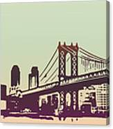 New York Manhattan Bridge Canvas Print