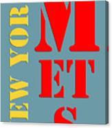 New York Mets Baseball New Typography Canvas Print