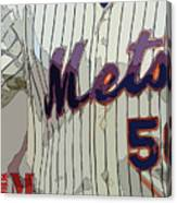 New York Mets Baseball Team And New Typography Canvas Print
