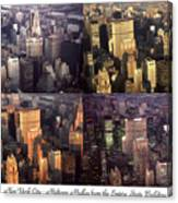 New York Mid Manhattan Medley - Photo Art Poster Canvas Print