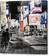 New York Night Life Canvas Print