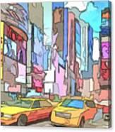 New York On A Sunday Canvas Print