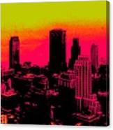 New York Pink Canvas Print