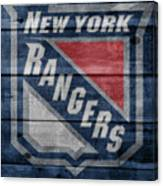 New York Rangers Barn Door Canvas Print