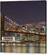 New York Skyline - Brooklyn Bridge - 6 Canvas Print