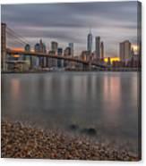 New York Skyline - Brooklyn Bridge - 9 Canvas Print