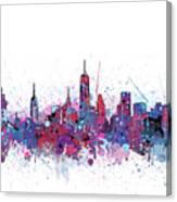 New York Skyline Color Splatter Canvas Print