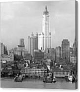 New York Skyline From Brooklyn  Canvas Print