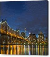 New York Skyline - Queensboro Bridge - 2 Canvas Print